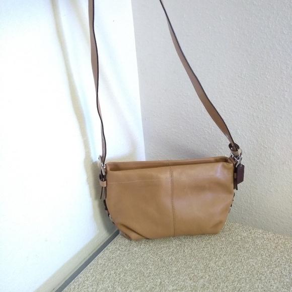 Coach Handbags - Coach Tan Leather Shoulder Bag